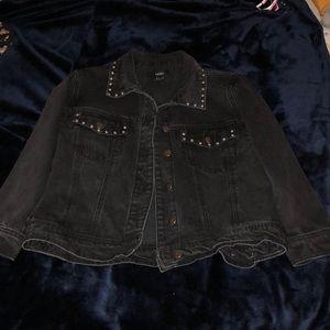 Black denim jacket w/ metal detailing